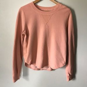 Abercrombie & Fitch Distressed Sweatshirt Rose S